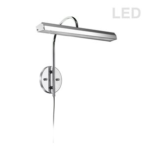Lampe pour tableau Display Exhibit de Dainolite, 24 Watts, 16,25 po, chrome poli