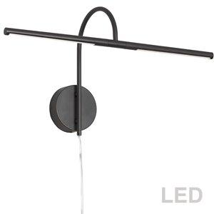 Lampe pour tableau Display Exhibit de Dainolite, 10 Watts, 25,5 po, noir mat