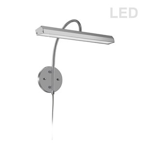 Lampe pour tableau Display Exhibit de Dainolite, 24 Watts, 16,25 po, chrome satiné