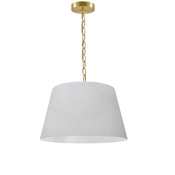 Dainolite Brynn Pendant Light - 1-Light - 10.5-in x 7-in - Aged Brass