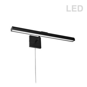 Lampe pour tableau Leonardo de Dainolite, 30 Watts, 24 po, noir mat