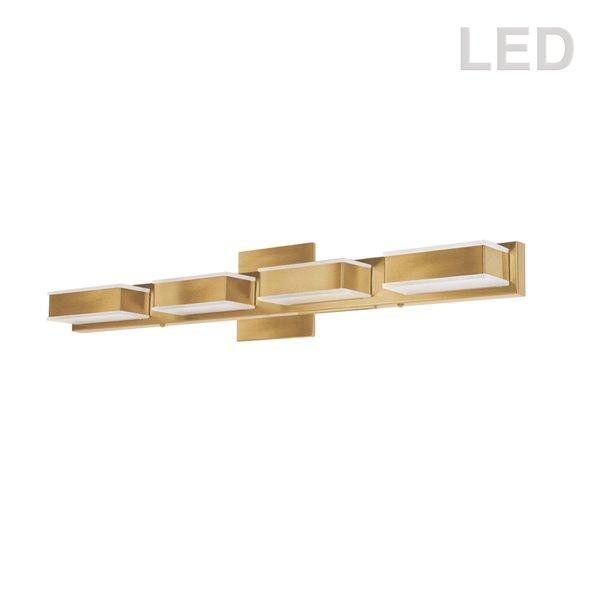 Luminaire pour meuble-lavabo Signature de Dainolite, 4 lumières, 26,7 po, or