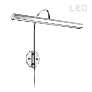 Lampe pour tableau Display Exhibit de Dainolite, 30 Watts, 24,13 po, chrome poli