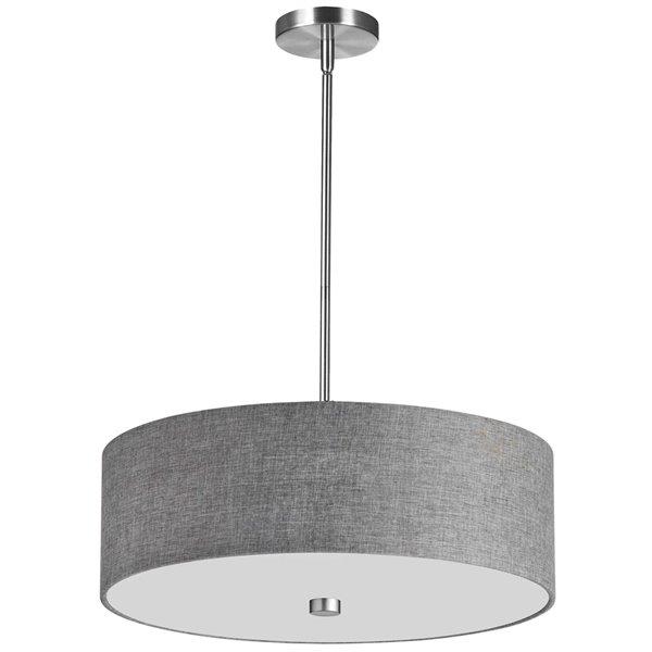 Dainolite Everly Pendant Light - 4-Light - 20-in x 5-in - Polished Chrome