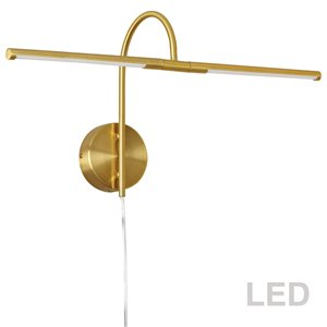 Lampe pour tableau Display Exhibit de Dainolite, 10 Watts, 25,5 po, laiton vieilli