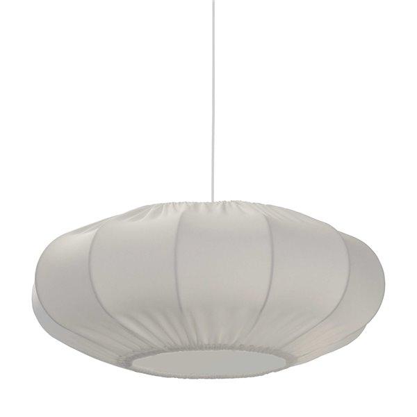 Luminaire suspendu à 1 lumière Zoey de Dainolite, 20 po x 8 po, blanc