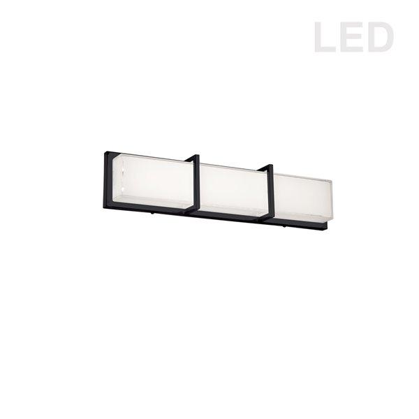 Luminaire pour meuble-lavabo Trinity de Dainolite, 1 lumière, 23,7 po, noir mat