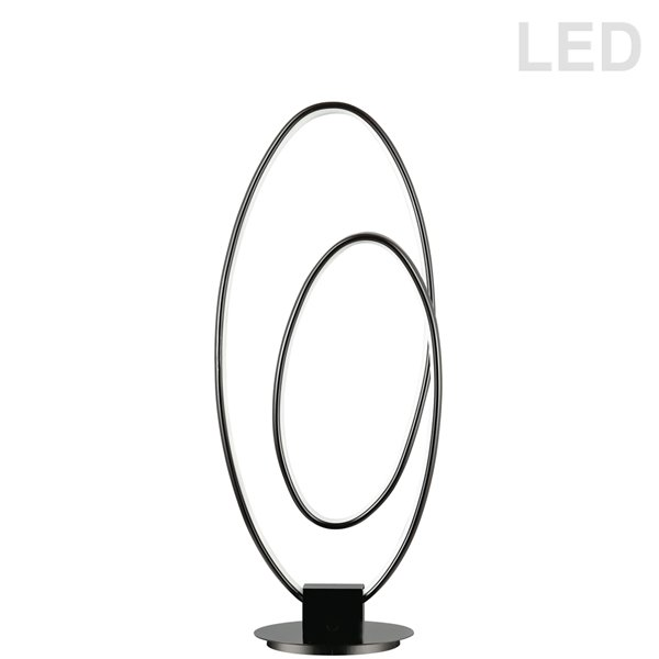 Dainolite Phoenix Table Lamp - 1-Light - 21-in - Matte Black