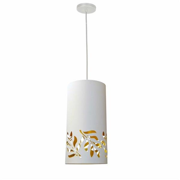 Luminaire suspendu à 1 lumière Flora de Dainolite, 8 po x 16 po, blanc mat