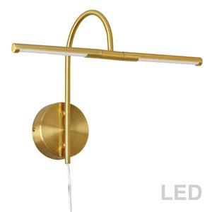 Lampe pour tableau Display Exhibit de Dainolite, 6 Watts, 17,5 po, laiton vieilli