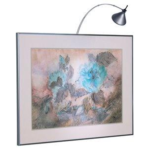 Lampe pour tableau Signature de Dainolite, 3 po, chrome satiné