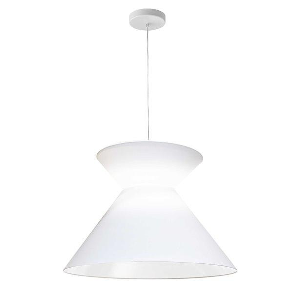 Dainolite Patricia Pendant Light - 1-Light - 18-in x 11.5-in - White
