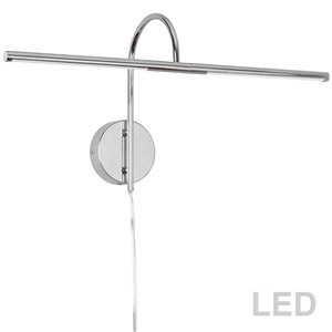 Lampe pour tableau Display Exhibit de Dainolite, 10 Watts, 25,5 po, chrome poli