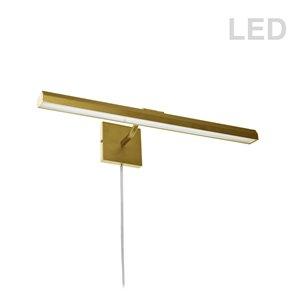 Lampe pour tableau Leonardo de Dainolite, 30 Watts, 24 po, laiton vieilli
