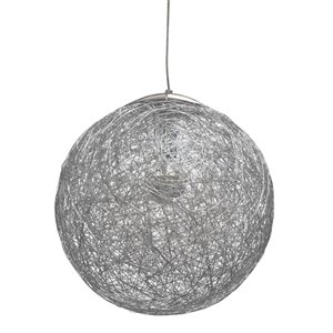 Luminaire suspendu à 1 lumière Payton de Dainolite, 15,75 po x 15,75 po, aluminium
