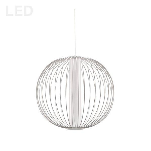 Dainolite Charlotte Pendant Light - 4-Light - 17-in x 15.75-in - Matte White