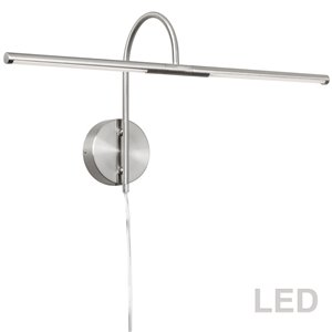 Lampe pour tableau Display Exhibit de Dainolite, 10 Watts, 25,5 po, chrome satiné