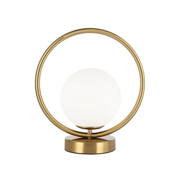 Dainolite Adrienna Table Lamp - 1-Light - 11-in - Aged Brass