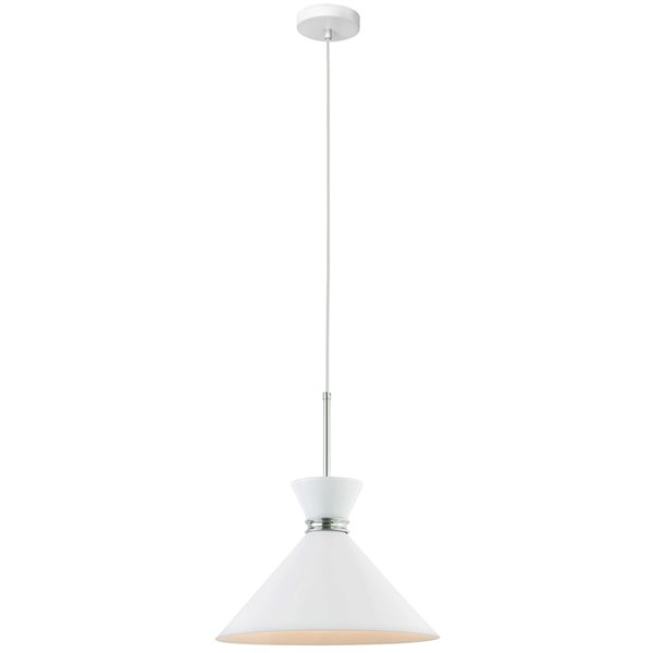 Luminaire suspendu à 1 lumière Cinderella de Dainolite, 13,75 po x 15,35 po, chrome poli