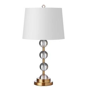 Lampe de table Signature de Dainolite, 1 lumière, 26 po, laiton vieilli