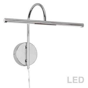Lampe pour tableau Display Exhibit de Dainolite, 6 Watts, 17,5 po, chrome poli