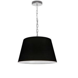 Luminaire suspendu à 1 lumière Brynn de Dainolite, 14 po x 7 po, chrome poli/noir