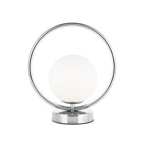 Lampe de table Adrienna de Dainolite, 1 lumière, 11 po, chrome poli
