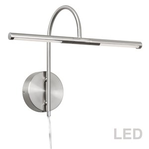 Lampe pour tableau Display Exhibit de Dainolite, 6 Watts, 17,5 po, chrome satiné