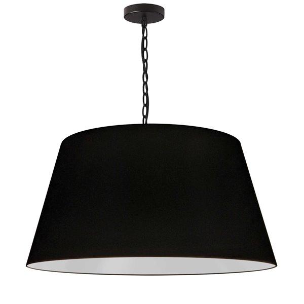 Luminaire suspendu à 1 lumière Brynn de Dainolite, 26 po x 13 po, noir
