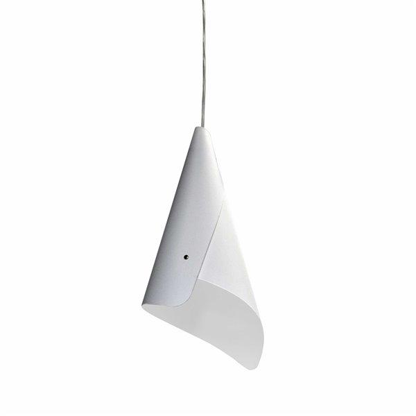 Dainolite Cone Pendant Light - 1-Light - 8-in x 16-in - Polished Chrome/White
