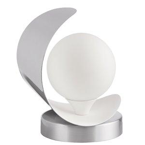 Lampe de table Crescent de Dainolite, 1 lumière, 7 po, chrome satiné