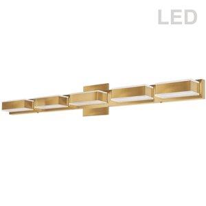 Dainolite Signature Vanity Light - 5-Light - 32.5-in - Gold