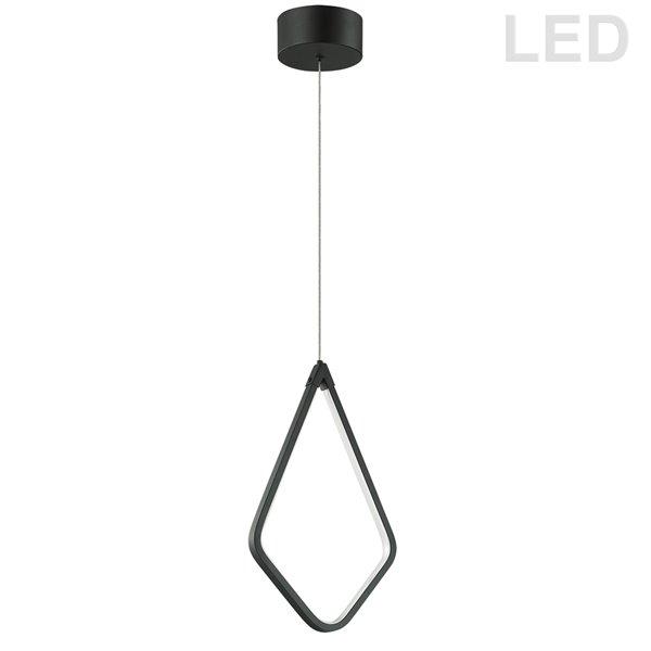 Luminaire suspendu à 1 lumière Chime de Dainolite, 8,5 po x 14,5 po, noir mat