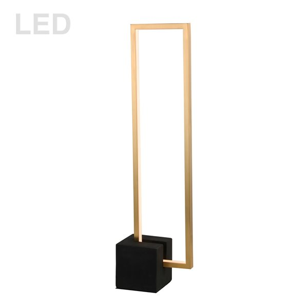 Dainolite Florence Table Lamp - 1-Light - 25.5-in - Aged Brass and Matte Black