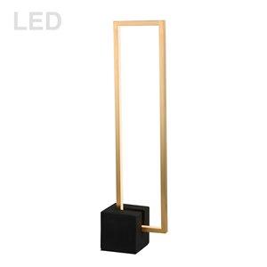 Lampe de table Florence de Dainolite, 1 lumière, 25,5 po, laiton vieilli et noir mat
