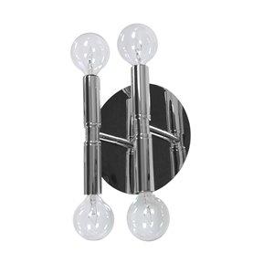 Dainolite Ava Wall Sconce - 4-Light - 5.9-in - Polished Chrome