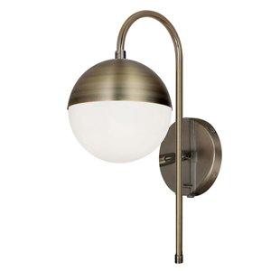 Dainolite Dayana Wall Sconce - 1-Light - 7-in - Antique Brass
