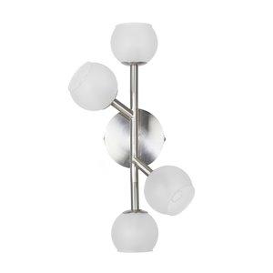 Dainolite Tanglewood Wall Sconce - 4-Light - 9.5-in - Satin Chrome