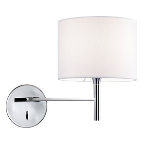 Dainolite Signature Wall Sconce - 1-Light - 7.13-in - Polished Chrome and White