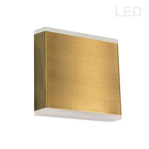 Dainolite Emery Wall Sconce - 2-Light - 4.88-in - Aged Brass