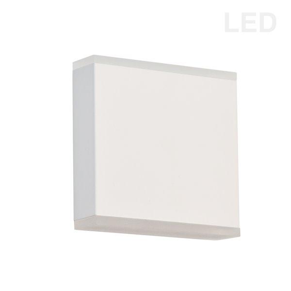 Dainolite Emery Wall Sconce - 2-Light - 4.88-in - Matte White