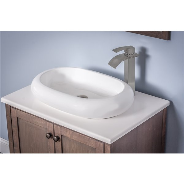 Novatto Bianco Ovale Vessel Sink - 16.5-in - White