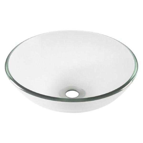 Novatto Bonificare Round Vessel Sink - 16.5-in - Clear Glass