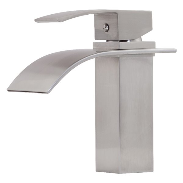 Novatto Remi Single Lever Handle Faucet - 8-in - Brushed Nickel