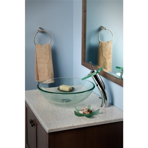 Novatto Squared Single Lever Handle Faucet Set - 11.13-in - Chrome