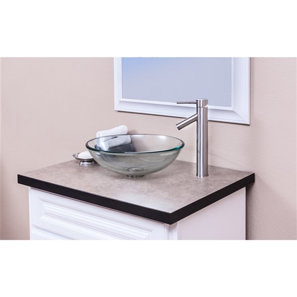 Novatto Dalyss Single Lever Handle Faucet - 12.5-in - Brushed Nickel