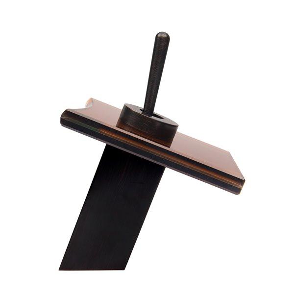 Novatto Squared Single Lever Handle Faucet - 7-in - Oil Rubbed Bronze
