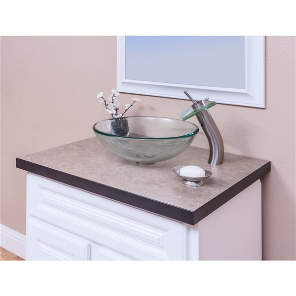 Novatto Topia Single Lever Handle Faucet - 11.75-in - Brushed Nickel