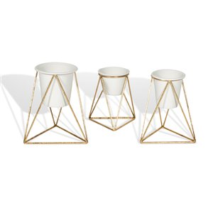 Gild Design House Viola  Decorative Metal Table Top Planter - Set of 3