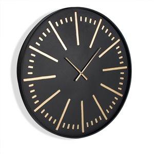 Horloge murale en métal Corwin